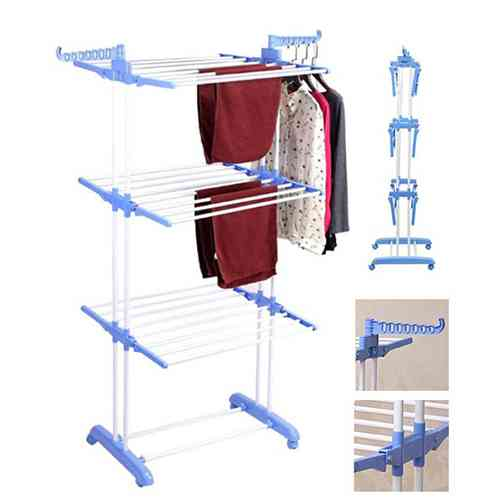 3 layer clothes rack