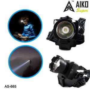 Aiko 1W Rechargeable Head Mounted LED Torch Lamp AS-665
