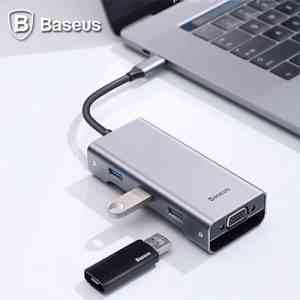 Baseus Square Desk Type-C Multi-Functional Hub USB 3.0 * 3 VGA
