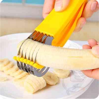 Banana Slicer Fruit Cutter Stainless Steel