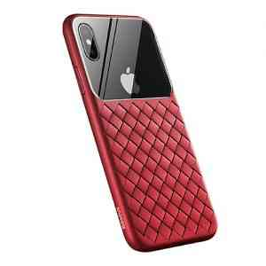 Glass & Weaving Case For iPhone XS MAX
