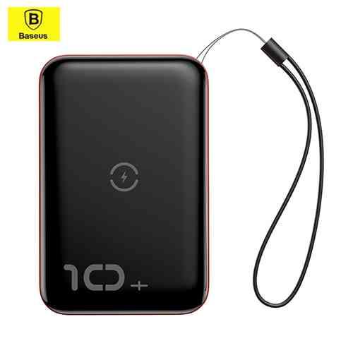 Baseus Mini S Bracket Power Bank 10000mAh 18W with Wireless Charger Qi 10W