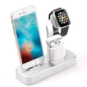 COTEetCI Aluminum 3IN1 Charger Multifunction Charging Stand For iPhone