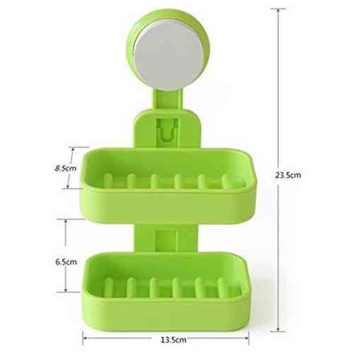 Double Layer Soap Box Suction Cup Holder