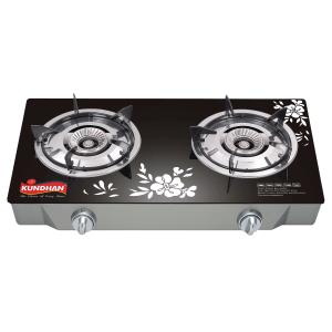 Glass Top Dual Burner Gas Cooker