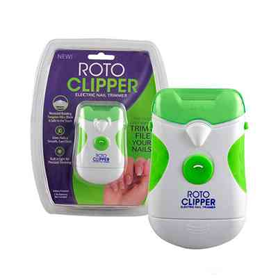 Roto Clipper Electric Nail Trimmer and Nail File, Electronic Manicure Pedicure Tool