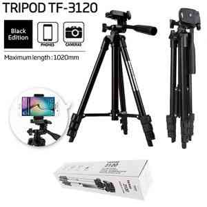 Portable Lightweight 4 Sections Tripod For Mobile and Camera – TF-3120