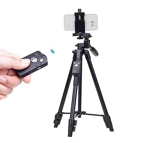 YUNTENG Tripod for Mobile and Camera With Bluetooth Remote