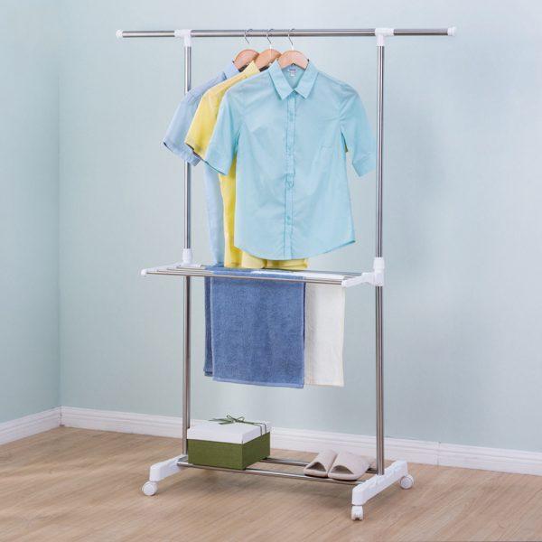 Single Rod Clothes Towel Rack