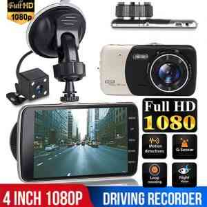 Car DVR Camera Dual Lens Full HD 1080P 4 Inch