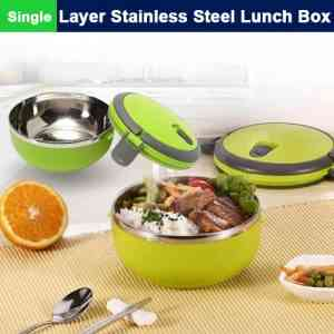 1 Layer Round Stainless Steel Lunch Box