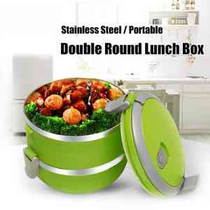 2 Layers Stainless Steel Lunch Box