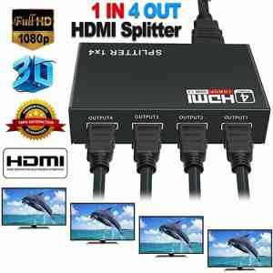 HD 4K 4 Port HDMI Splitter Hub