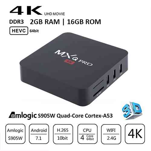 MXQ Pro 4K Android TV Box with 2GB RAM/16GB ROM