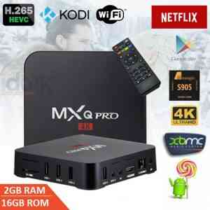 MXQ Pro 4K Android TV Box with 2GB RAM/16GB ROM