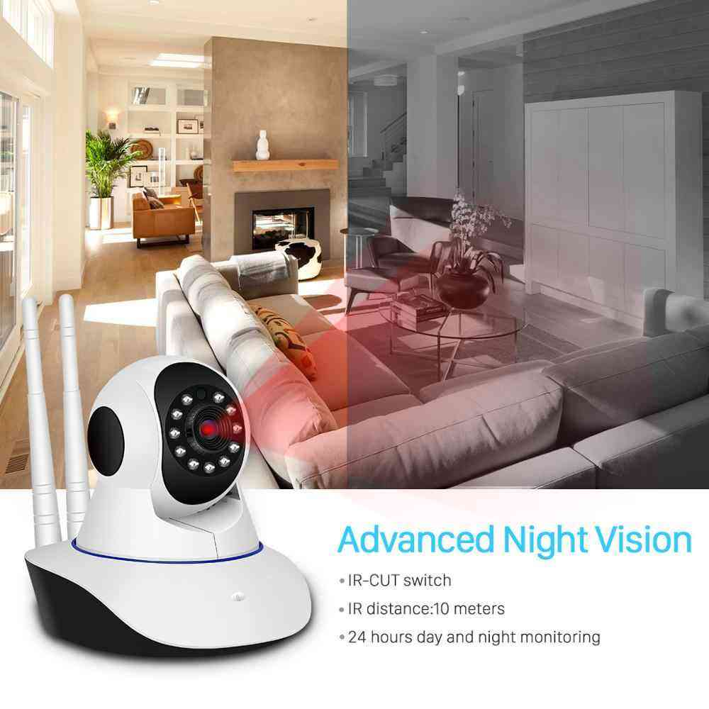 BESDER 1080P H.265 Home Security IP Camera Dual Antenna WiFi Camera Audio Record 360 degrees Baby Monitor HD Mini IP Camera CCTV