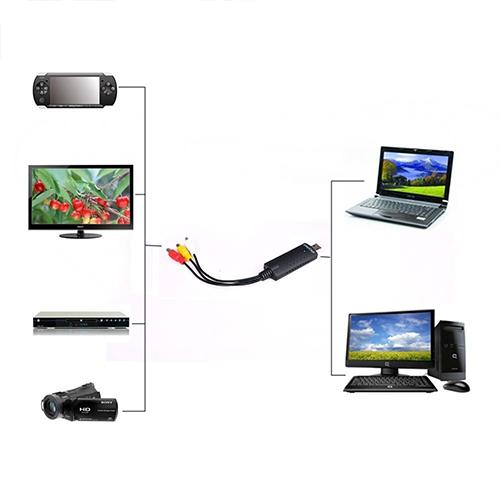 USB 2.0 Video Capture Card Converter PC Adapter