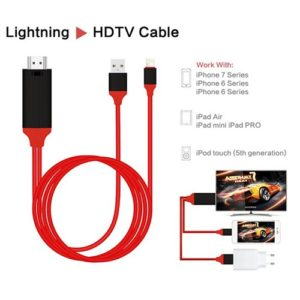 Lightning To HDMI HDTV Cable Digital AV Adapter For iPhone