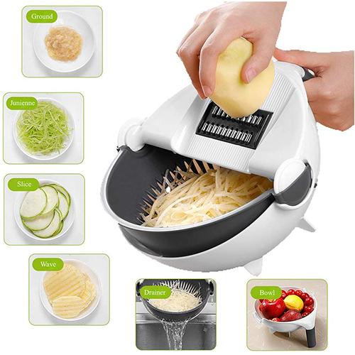 Vegetable Cutter Slicer Chopper Fruit Strainer Basket