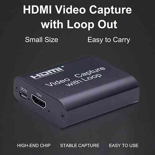 Video Capture Card with Loop Out HDMI To HDMI USB 2.0