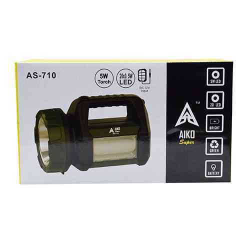 Aiko Super Rechargeable Torch AS710 Portable LED Light