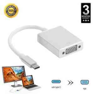 USB C to VGA Converter Adapter Type c to VGA Cable USB 3.1